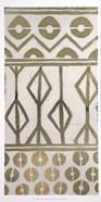 Tribal Pattern in Cream I - Metallic Foil