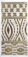 Tribal Pattern in Cream II - Metallic Foil