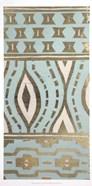 Tribal Pattern in Turquoise II - Metallic Foil