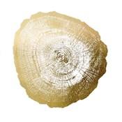Gold Foil Tree Ring IV - Metallic Foil