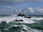 Phare de Tavennec, mer d'Iroise