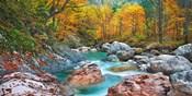 Mountain Brook and Rocks, Carinthia, Austria