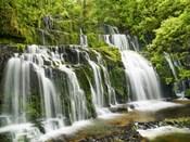 Waterfall Purakaunui Falls, New Zealand