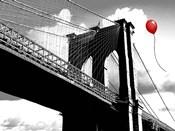 Balloon over Brooklyn Bridge