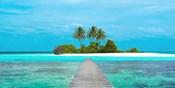 Jetty and Maldivian island