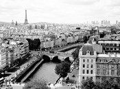 View of Paris and Seine River