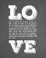 Corinthians 13:4-8 Love is Patient - Chalkboard