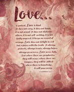 Corinthians 13:4-8 Love is Patient - Pink Floral