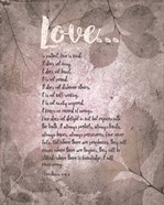 Corinthians 13:4-8 Love is Patient - Grey Leaves