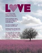 Corinthians 13:4-8 Love is Patient - Pink Field