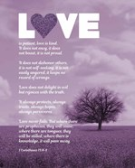 Corinthians 13:4-8 Love is Patient - Lavender Field