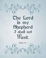 Psalm 23 The Lord is My Shepherd - Blue