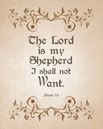 Psalm 23 The Lord is My Shepherd - Brown