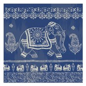 Boho Elephant Blue