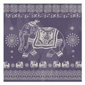 Boho Elephant Purple