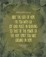 Romans 15:13 Abound in Hope (Green)