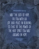 Romans 15:13 Abound in Hope (Blue)