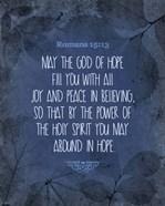 Romans 15:13 Abound in Hope (Blue)