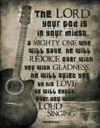 Zephaniah 3:17 The Lord Your God (Guitar Sepia)
