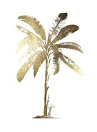 Gold Foil Tropical Palm II- Metallic Foil