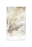 Gold Foil City Map New York- Metallic Foil