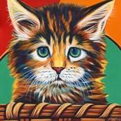 Kitten in Basket I