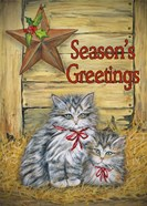 Cats in Barn - Seasons Greetings
