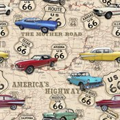 Route 66 Muscle Car Map