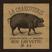 French Pig Burlap