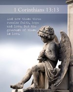1 Corinthians 13:13 Faith, Hope and Love (Statue)