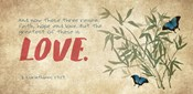 1 Corinthians 13:13 Faith, Hope and Love (Butterflies)