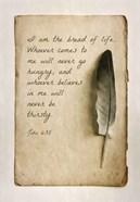John 6:35 I am the Bread of Life (Sepia)