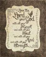 Mark 12:30 Love the Lord Your God (Bird)