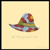 Red Flowering Garden Hat