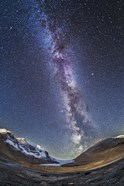 Milky Way over the Columbia Icefields in Jasper National Park, Canada