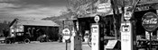 Store with a gas station on the roadside, Route 66, Hackenberry, Arizona