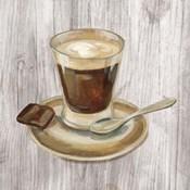 Coffee Time III on Wood