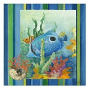 Tropical Fish IV (striped background)