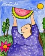 Big Diva With Watermelon