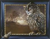 Eagle Owl And Mouse