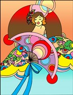 Art Deco Fan Lady