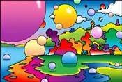 Bubbles Landscape