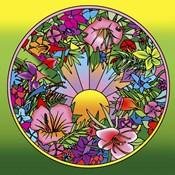 Pop Art Circle Flowers 615