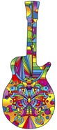 Pop Art Guitar Butterfly