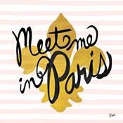Meet Me in Paris Black and Gold