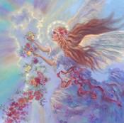 Angel With Flower Garland