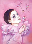 Mime With Heart Bubbles