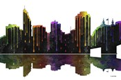 Cincinnati Ohio Skyline BW 1
