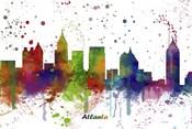 Atlanta Georgia skyline Multi Colored 1