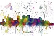 Birmingham Alabama Skyline Multi Colored 1